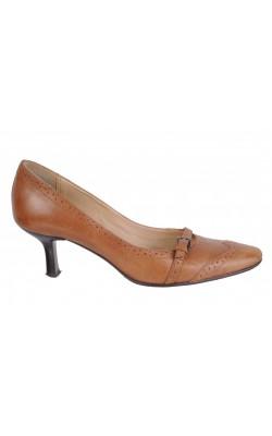 Pantofi bej piele naturala, marime 38