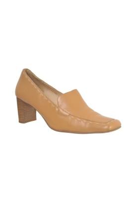 Pantofi bej Tamaris, piele naturala, marime 40