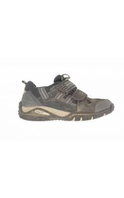 Pantofi blemarin cu gri SuperFit, piele si mesh, marime 26