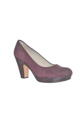 Pantofi cu platforma Clarks, piele naturala, marime 42
