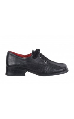 Pantofi cu siret N2H, piele naturala, marime 38