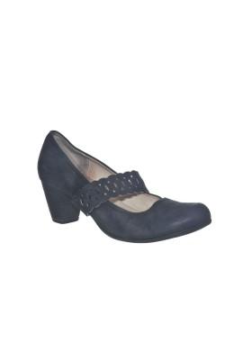 Pantofi din piele naturala mata Caprice, marime 37.5