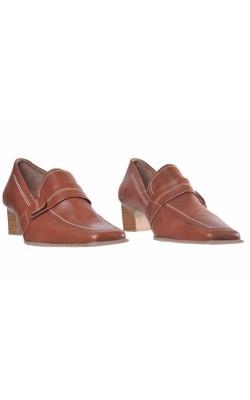 Pantofi din piele naturala Mocca, marime 37