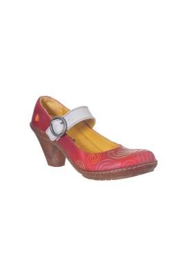 Pantofi din piele The Art Company, talpa cauciuc natural, marime 37
