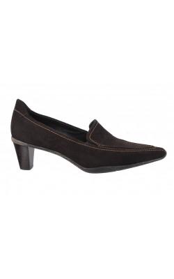 Pantofi maro din piele intoarsa Ecco, marime 38