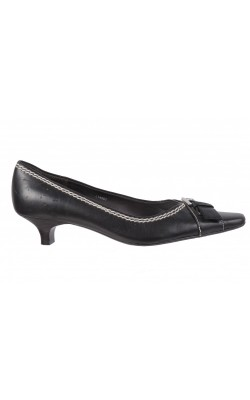 Pantofi negri cu catarama metalica Esprit, marime 38