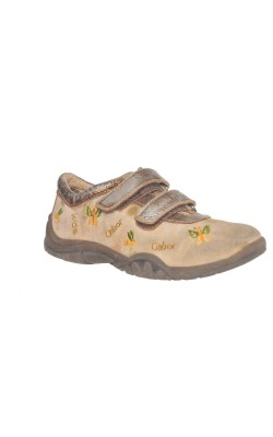 Pantofi fetite Gabor, piele naturala, decor auriu, marime 27