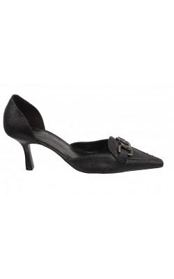 Pantofi Fioni, imitatie piele sarpe, marime 37