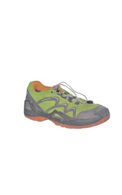 Pantofi fistic cu gri si oranj Lowa Gore-Tex, marime 32