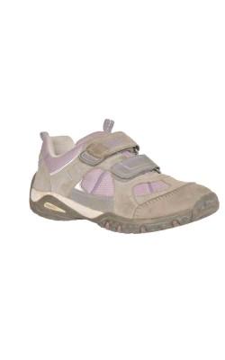 Pantofi gri cu lila SuperFit, piele, marime 30