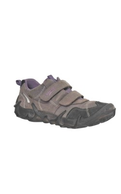 Pantofi gri cu mov Superfit Gore-Tex, piele, marime 37