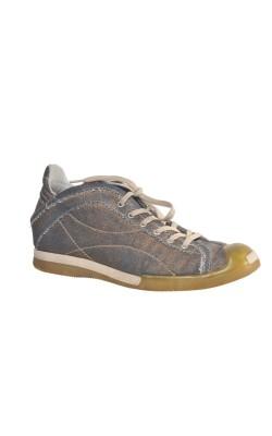 Pantofi Hal&Mal, denim si piele, marime 38.5
