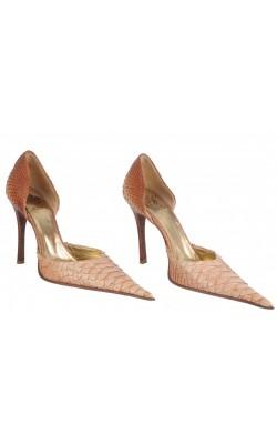 Pantofi Icone, piele sarpe, marime 36
