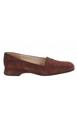Pantofi maro Caparrini, integral piele, marime 36, calapod lat
