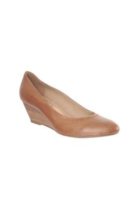 Pantofi maro din piele naturala Janet D., marime 38.5