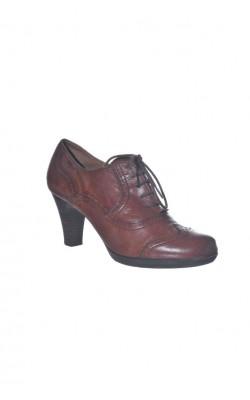 Pantofi maro din piele naturala Tamaris, marime 39