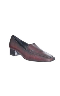 Pantofi maro din piele Tamaris, marime 40
