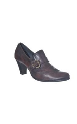 Pantofi maro din piele Venturini, marime 37