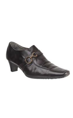 Pantofi maro inchis Gabor, piele, marime 39
