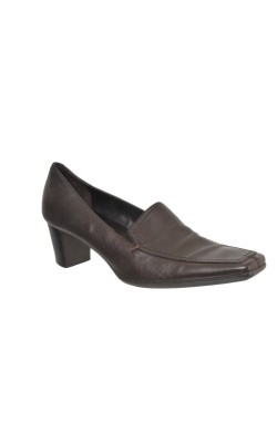 Pantofi maro inchis Geox Respira, piele naturala, marime 40