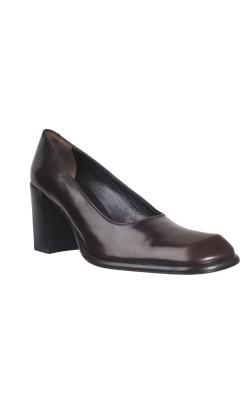 Pantofi maro piele naturala Jil Rocco, marime 37