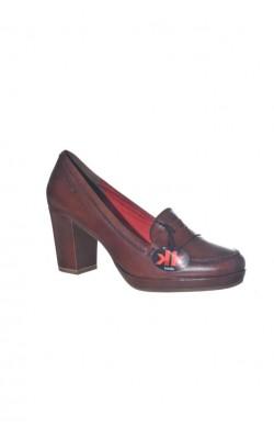 Pantofi maro piele naturala Tamaris, marime 40