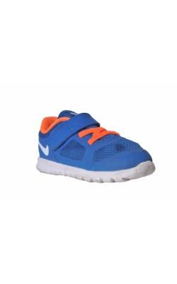 Pantofi mesh albastru cu oranj Nike, marime 23.5
