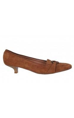 Pantofi din piele intoarsa Mocca, marime 38