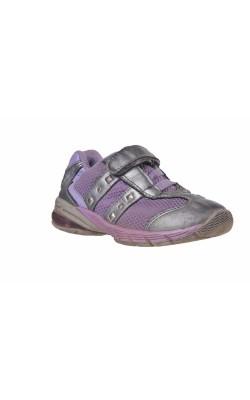Pantofi mov cu argintiu Kangaroos, talpa cu led, marime 27