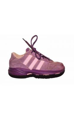 Pantofi mov cu roz Adidas Ortholite, piele, marime 24.5