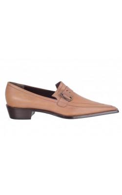 Pantofi din piele naturala Napoleni, marime 38