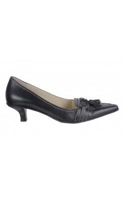 Pantofi negri Anne Klein, piele naturala, marime 36