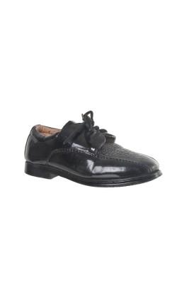Pantofi negri baieti, piele lacuita, marime 23