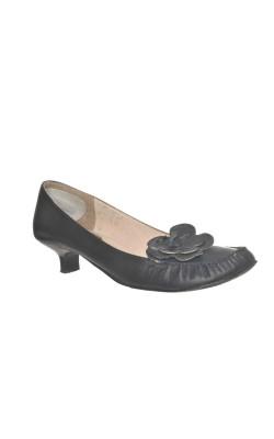 Pantofi negri Bata, piele, marime 39