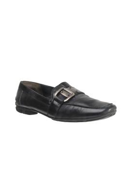 Pantofi negri cu catarama metalica Paul Green, piele, marime 40