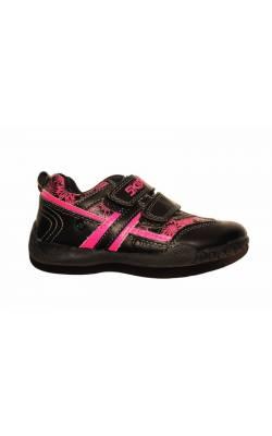 Pantofi negri cu flori roz Skippy, marime 26