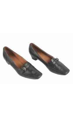 Pantofi negri din piele naturala Go Soft, marime 41.5