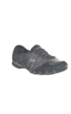 Pantofi negri din piele Skechers, marime 42
