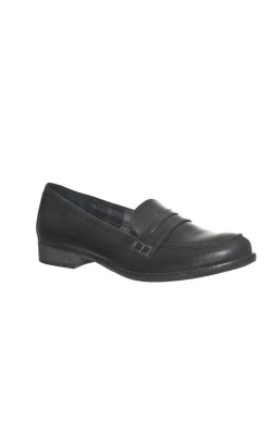 Pantofi negri din piele Tamaris, comozi, usori, marime 41