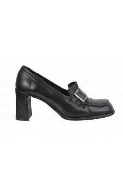 Pantofi negri Fluxa, piele naturala, marime 39
