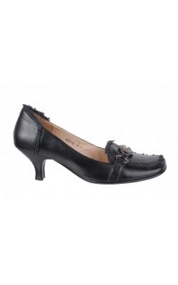 Pantofi negri din piele naturala Image, marime 38