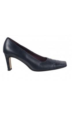 Pantofi negri Peter Kozina, integral piele, marime 39