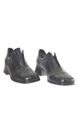 Pantofi negri Rieker, piele naturala, marime 41