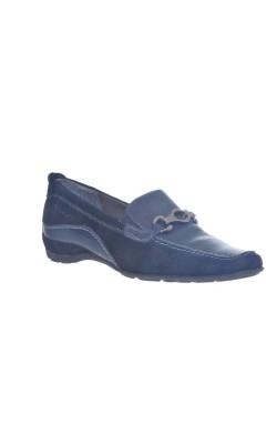 Pantofi negri Tamaris, piele, marime 38