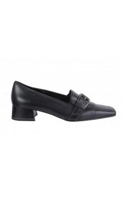 Pantofi negri Tamaris, piele naturala, marime 37