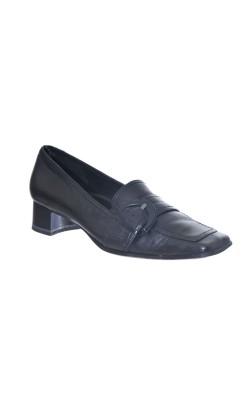 Pantofi negri Tamaris, piele naturala, marime 38
