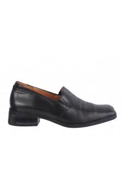 Pantofi negri Think, piele naturala, marime 37