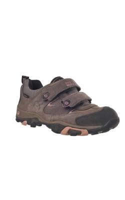 Pantofi piele bej cu roz Jack Wokfskin, texapore, marime 32