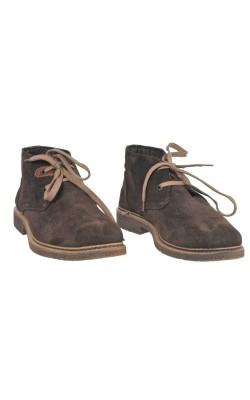 Pantofi piele Checker, interior fleece, marime 41