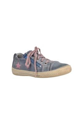 Pantofi piele cusaturi roz Superfit, marime 31